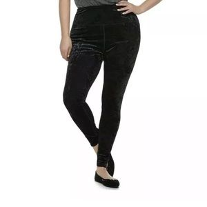 2/$30 SO Juniors XL Velour Black High Rise Pants